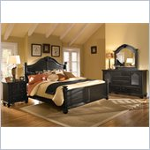 Broyhill Mirren Pointe Arched Panel Bed 4 Pc Bedroom Set in Chocolate
