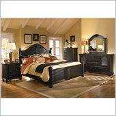 Broyhill Mirren Pointe Arched Panel Bed 5 Pc Bedroom Set in Chocolate
