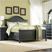Broyhill Mirren Pointe Arched Panel Storage Bed in Chocolate