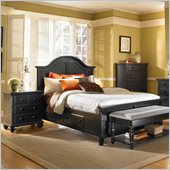 Broyhill Mirren Pointe Panel Storage Bed 2 Pc Bedroom Set in Chocolate