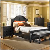 Broyhill Mirren Pointe Panel Storage Bed 3 Pc Bedroom Set in Chocolate