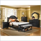 Broyhill Mirren Pointe Panel Storage Bed 5 Pc Bedroom Set in Chocolate