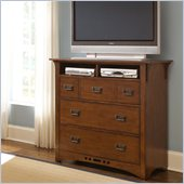 Broyhill Artisan Ridge Media Chest in Warm Nutmeg