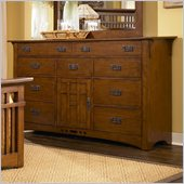 Broyhill Artisan Ridge Door Dresser in Warm Nutmeg