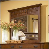 Broyhill Artisan Ridge Landscape Dresser Mirror in Warm Nutmeg