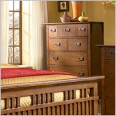 Broyhill Artisan Ridge Drawer Chest in Warm Nutmeg