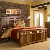 Broyhill Artisan Ridge Slat Bed in Warm Nutmeg