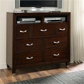 Broyhill Eastlake 2 Media Chest in Warm Brown Cherry