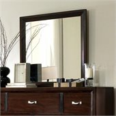 Broyhill Eastlake 2 Landscape Dresser Mirror in Warm Brown Cherry