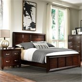 Broyhill Eastlake 2 Panel Bed 2 Piece Bedroom Set in Warm Brown Cherry