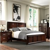Broyhill Eastlake 2 Panel Bed 3 Piece Bedroom Set in Warm Brown Cherry