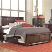 Broyhill Eastlake 2 Panel Single Underbed Storage Bed in Brown Cherry