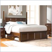 Broyhill Eastlake 2 Poster Sinlge Underbed Storage Bed in Brown Cherry