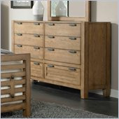 Broyhill Ember Grove 7 Drawer Dresser in Weathered-Khaki