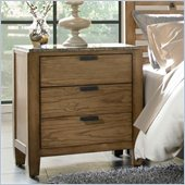Broyhill Ember Grove 3 Drawer Night Stand in Weathered-Khaki