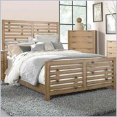 Broyhill Ember Grove Panel Bed in Weathered-Khaki