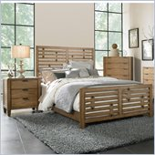 Broyhill Ember Grove Panel Bed 2 Piece Bedroom Set in Weathered-Khaki