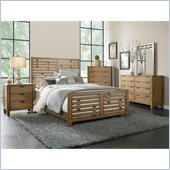 Broyhill Ember Grove Panel Bed 5 Piece Bedroom Set in Weathered-Khaki