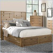 Broyhill Ember Grove Panel Footboard Storage Bed in Weathered-Khaki