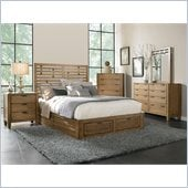 Broyhill Ember Grove Storage Bed 5 Pc Bedroom Set in Weathered-Khaki