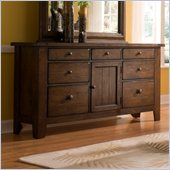Broyhill Attic Heirlooms Oak Stain 7 Drawer Door Dresser
