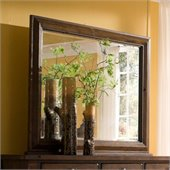Broyhill Attic Heirlooms Oak Stain Dresser Mirror with Back Supports