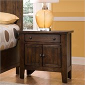 Broyhill Attic Heirlooms Vintage 1 Drawer/2 Doors Night Stand