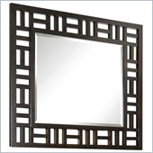 Broyhill Perspectives Lattice Dresser Mirror in Graphite Finish