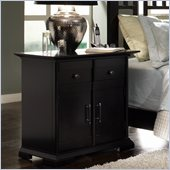 Broyhill Perspectives 1 Drawer 2 Door Night Stand in Graphite Finish