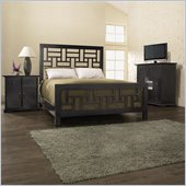 Broyhill Perspectives Lattice Bed 3 Piece Bedroom Set in Graphite