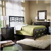 Broyhill Perspectives Lattice Bed 4 Piece Bedroom Set in Graphite