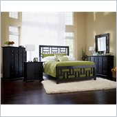 Broyhill Perspectives Lattice Bed 5 Piece Bedroom Set in Graphite