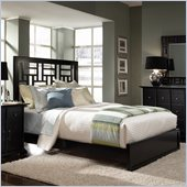 Broyhill Perspectives Lattice Low Profile Bed in Graphite Finish