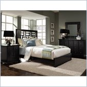 Broyhill Perspectives Lattice Low Bed 4 Piece Bedroom Set in Graphite