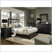 Broyhill Perspectives Lattice Low Bed 5 Piece Bedroom Set in Graphite