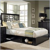 Broyhill Perspectives Lattice Low Underbed Storage Bed in Graphite