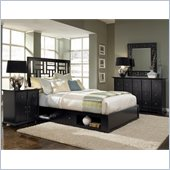 Broyhill Perspectives Lattice Storage Bed 4 Pc Bedroom Set in Graphite