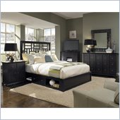Broyhill Perspectives Lattice Storage Bed 5 Pc Bedroom Set in Graphite