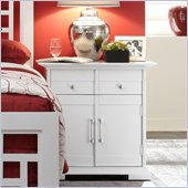 Broyhill Perspectives Artic White 1Drawer 2 Door Night Stand