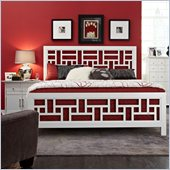 Broyhill Perspectives Artic White Lattice Panel Bed 2 Pc Bedroom Set