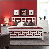 Broyhill Perspectives Artic White Lattice Panel Bed 3 Pc Bedroom Set