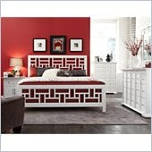 Broyhill Perspectives Artic White Lattice Panel Bed 4 Pc Bedroom Set