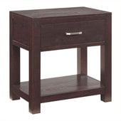 Broyhill Primo Vista 1 Drawer Night Stand with Shelf in Black Stain
