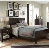 Broyhill Primo Vista Panel Bed 2 Piece Bedroom Set in Black Stain