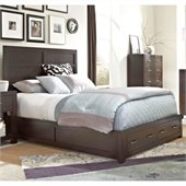 Broyhill Primo Vista Panel Bed w/ Storage Footboard in Black Stain