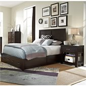 Broyhill Primo Vista Panel Storage Bed 2 Pc Bedroom Set in Black Stain