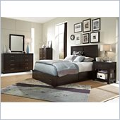 Broyhill Primo Vista Panel Storage Bed 5 Pc Bedroom Set in Black Stain