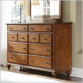 Broyhill Hayden Place 8 Drawer Dresser in Warm Golden Oak