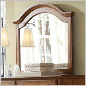 Broyhill Hayden Place Arched Dresser Mirror in Warm Golden Oak