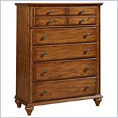 Broyhill Hayden Place 5 Drawer Chest in Warm Golden Oak